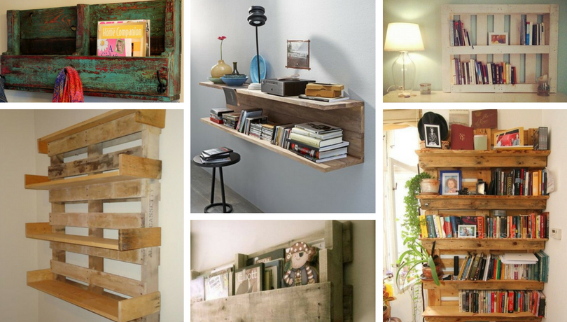 Creative diy shelves and bookcases from pallets