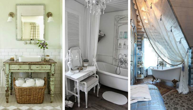 Beau Ideas For Decorating Your Bathroom In A Shabby Chic Style