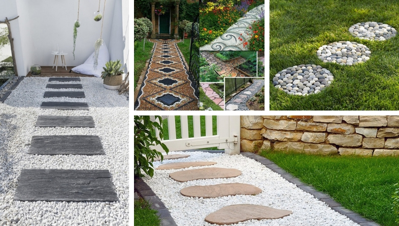 Garden paths: 28 DIY proposals to beautify your outdoor