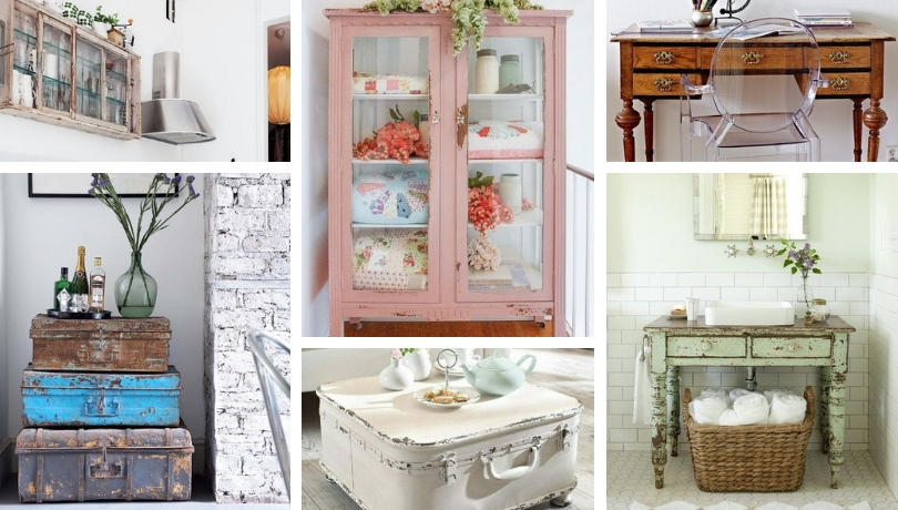 20 ideas to decorate with vintage or recovered furniture