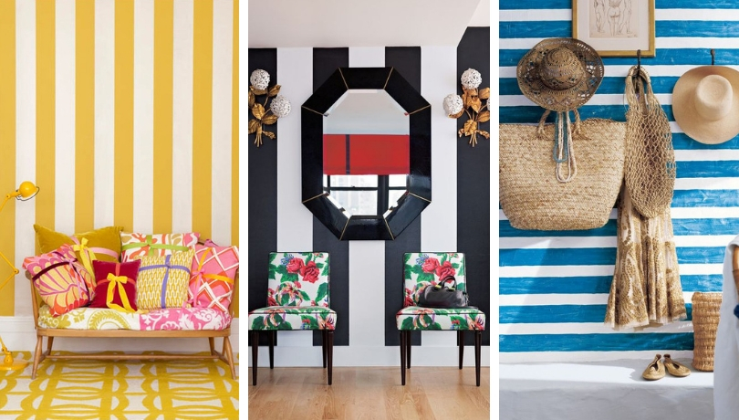 Striped halls: Dare to paint or decorate your entrance with stripes