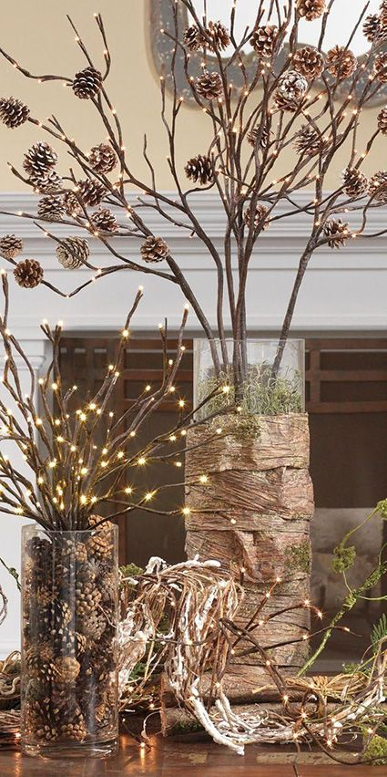 The Magic Of The Winter Forest Diy Christmas Decoration With Dry Branches My Desired Home