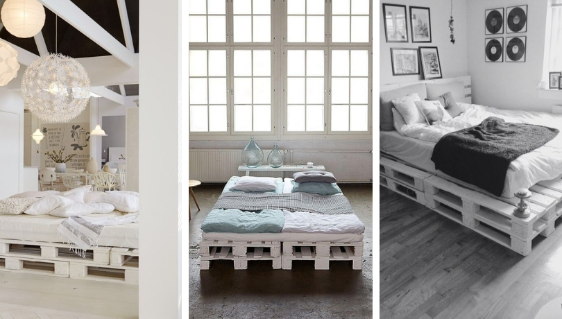 Cool DIY ideas for white pallet bed frames   My desired home