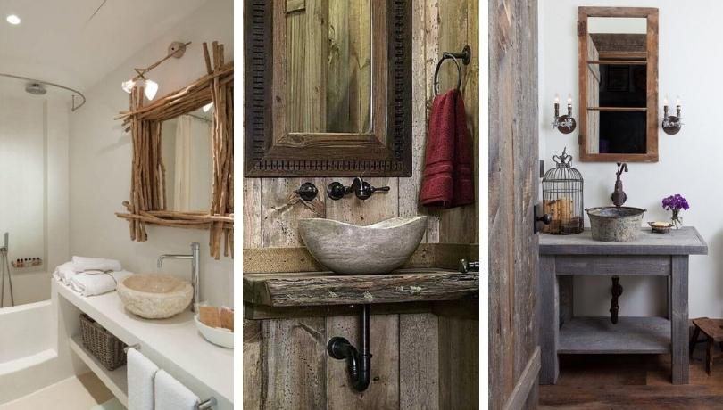 Rustic Bathroom 43 Gorgeous Ideas To, Rustic Bathroom Wall Decor Ideas