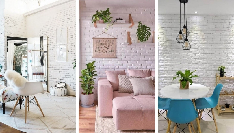 White Brick 30 Gorgeous Decorating Projects For Inspiration My Desired Home