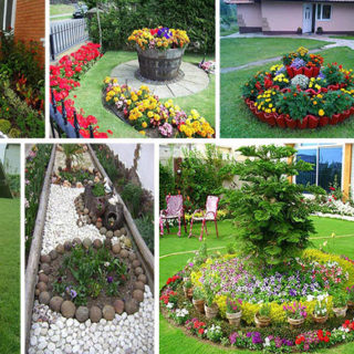 Interesting ideas for your flower beds (20 photos)