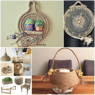 Unique diy decoration ideas with rope