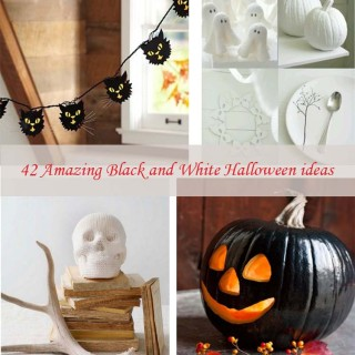 42 Amazing Black and White Halloween ideas