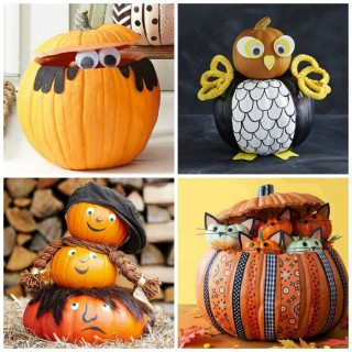 Decorate with pumpkins, 6 nice ideas for Halloween